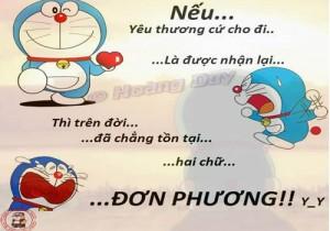 Status hình ảnh Doremon chế tình yêu buồn trên facebook